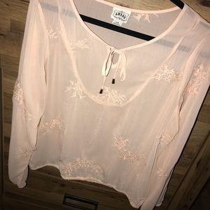 Nude pink ariat blouse